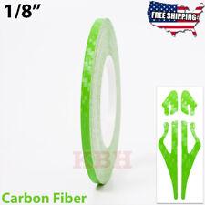 18 Vinyl Pinstriping Pin Stripe Line Tape Decal Sticker 3mm Carbon Fiber Green