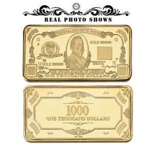 WR-America-US-1000-One-Thousand-Dollar-Bill-Banknote-Money-Gold-Art-Bullion-Bar