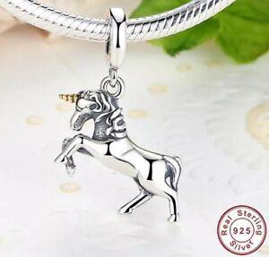 Unique 14k Gold Fairytale Unicorn Animal Pendant Necklace