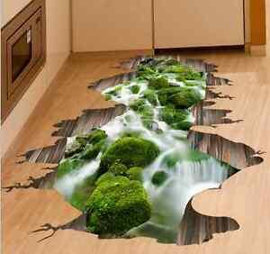 Badezimmer Boden 3D Aufkleber Schlafzimmer Kinder Zimmer Deko ...