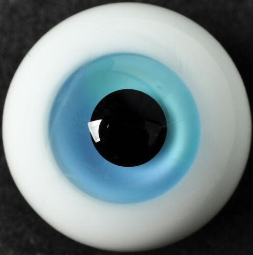 Light Blue vivid Colorful Iris 18mm Glass Stript BJD Eyes for Reborn Doll
