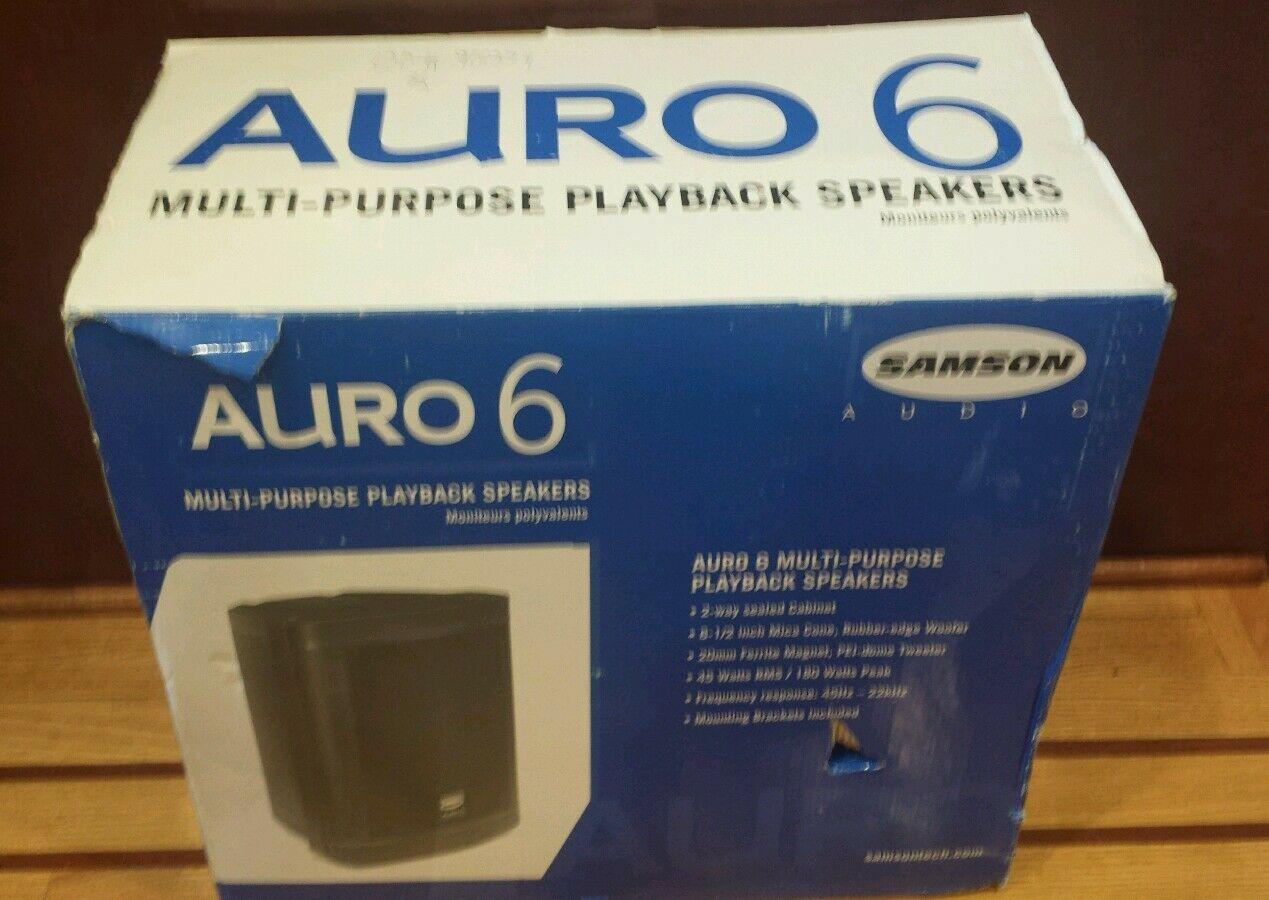 Pair Samson Auro 6 Multi- Purpose Playback Speakers