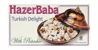 Hazer Baba Turkish Delight With Pistachio 16oz Free Shipping