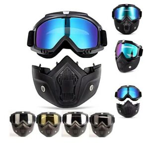 Winter-Snow-Sport-Goggles-Snowboard-Ski-Snowmobile-Face-Mask-Sun-Glasses-Eyewear
