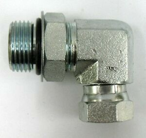 AF 9515-08-06 - 1/2 Male O-ring Bosss X 3/8 Female Pipe Swivel 90 Elbow