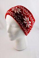 Headband Ear Warmer Knit Head Wrap Snowflake Pattern Extra Wide
