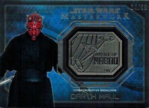 STAR-WARS-Masterwork-2016-Silver-Medallion-Card-of-Darth-Maul-84-99