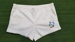 Bien Pantaloncino Shorts Lotto White Jersey Tennis Casual Vintage Anni '90 Rare T10
