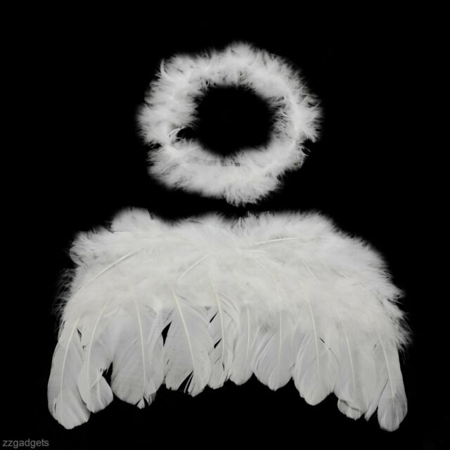 Fashion Lovely Infant Baby Kids Angel Wing Photo Props Costume Stage Equipment