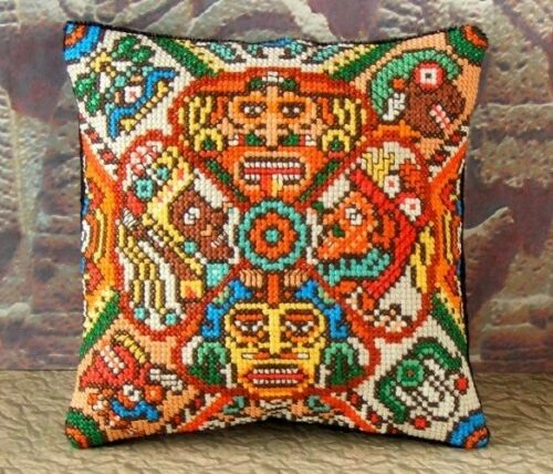 Aztec Art Mini Cushion Cross Stitch Kit Sheena Rogers Designs