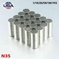 Lot 10 X 3mm Super Strong N35 Round Disc Neodymium Mini Fridge Magnet Rare Earth