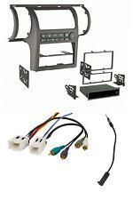 Taupe Car Stereo Radio Install Dash Mount Trim Kit Combo for 03-04 Infiniti G35