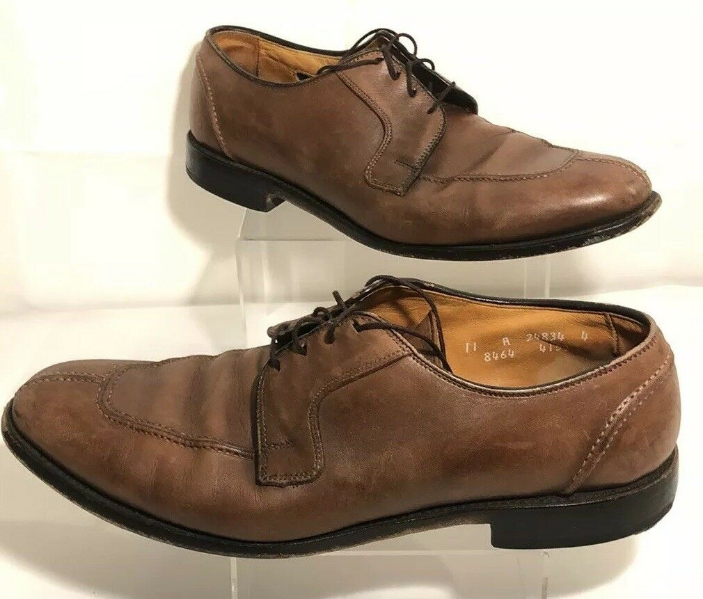 è scontato Allen Allen Allen Edmonds Hancock Marrone Leather Split Toe Oxfords Dress scarpe Uomo Sz 11  Sconto del 40%
