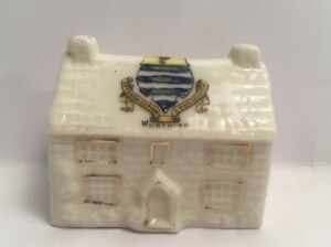 Vintage-Crested-China-House-Cottage-Worthing-Collectable-Ornament-No-Maker-Mark