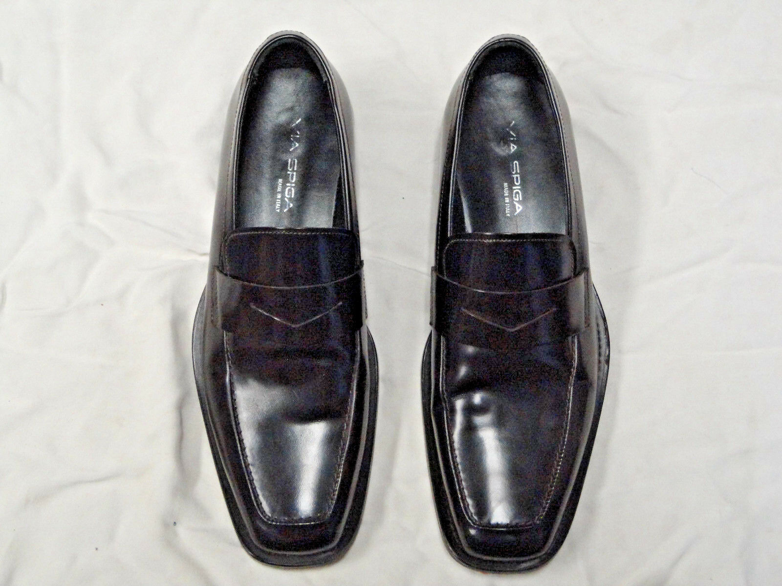 Via Spiga very dark brown loafer style shoe shoe style   Size 9   leather sole f7c380