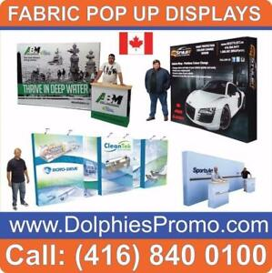 Portable Trade Show Pop Up Tension Fabric Displays Booths Pop-up Exhibit + Full Color Dye-Sublimation Printed Graphics Toronto (GTA) Preview