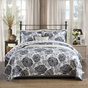 NEW-Cotton-Quilted-Bedspread-Coverlet-Throw-Blanket-3pcs-Double-Queen-King