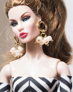 Poppy Parker Barbie Doll jewelry for Fashion Royalty earrings Handmade