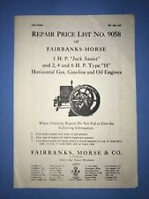 Fairbanks Morse Gas Engine Motor Type N Hit Miss Governor 2099K Flywheel Igniter
