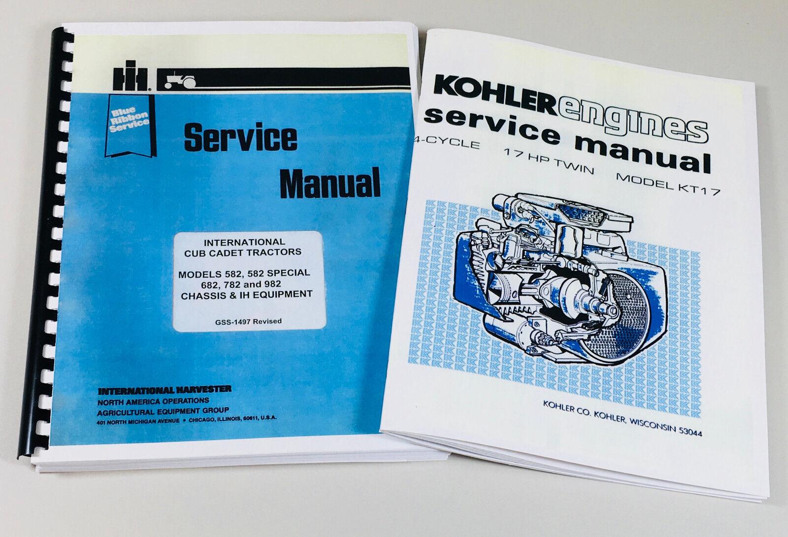 cub cadet kohler engine manual