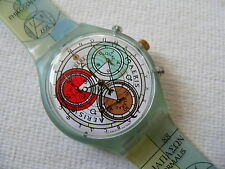 1996 Swatch Watch Chrono - chronograph Archimede SCG109 Plastic band.