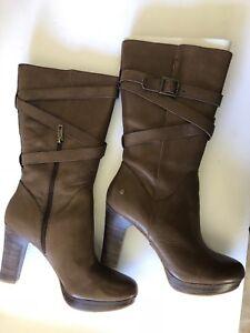 c43e7871a45 Details about Ugg Australia Women's Jardin Brown High Heel Boots Sz Us 11