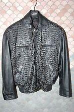 """Gianni Versace True Vintage Leather """"Chain"""" 3 Piece Suit, US 48, Mint, NOS"""