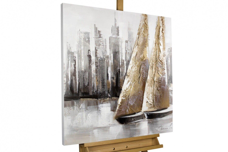 Acryl Gemälde 'SEGELStiefel MODERN'   HANDGEMALT   Leinwand Bilder 80x80cm