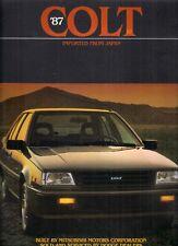 Dodge Colt 3-dr & 4-dr 1987 USA Market Sales Brochure E DL Premier Lancer