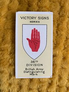 Tobacco-Card-B-Morris-VICTORY-SIGNS-1928-36th-Division