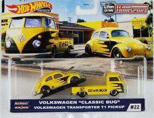 Hot-Wheels-2020-cultura-de-equipo-de-transporte-de-coche-VW-CLASICO-ESCARABAJO-Transportador-T1