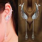 Angel Wing Crystal Silver Plated Earrings Drop Dangle Ear Stud Cuff Clip Gift
