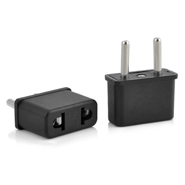 USA US To EU Europe EURO Charger Power Adapter Converter Wall Plug Home Travel
