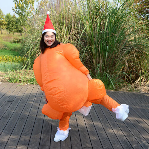 Adult Inflatable Turkey Costume Outfit Thanksgiving Christmas Dress Suit Party