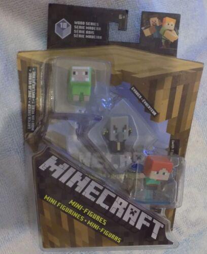 Minecraft Wood Series 10 GREEN SHEEP EVOKER ALEX w// Elytra Same Day Ship