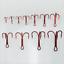100pcs-Rouge-Hi-Acier-Carbone-peche-hamecons-Aiguises-Treble-Hooks-Tackle-pleine-taille miniature 6