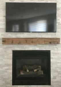 Ontario Reclaimed Barn Beam Fireplace Mantels Canada Preview