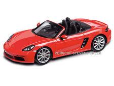 Porsche Boxster S 718 Diecast Model Car 1:43 Scale Lava Orange Made of Resin