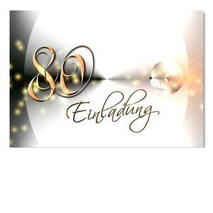 Details Zu Digitaloase Einladungskarten 80 Geburtstag Geburtstagskarten Umschlag 046