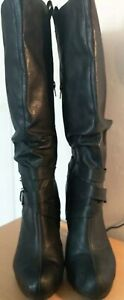 NEW-LOOK-LEATHER-BOOTS-SIZE-7-VERY-LITTLE-WEAR-WINTER-FORMAL-WORK