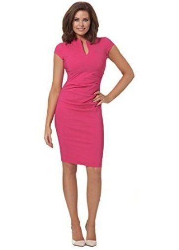BNWT Jessica Wright Sophia Hot Pink Midi Evening Occasion Dress Size 16 NEW