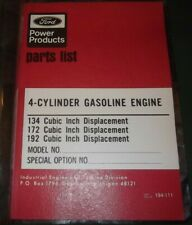 Ford 134 172 192 Cid 4 Cylinder Gas Engine Parts Manual Book Catalog 194 111