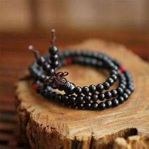 vasta selezione di 2a12f 0e657 Mala Tibetano collana bracciale uomo donna grani legno rosario ...