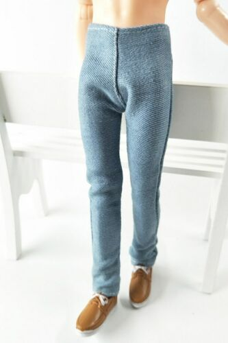 Light Blue 1//6 Doll Clothes Handmade Pants For Ken Prince Boy Doll Trousers
