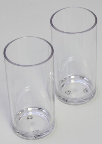 LUXUS 2 Longdrinkgläser Polycarbonat Caming Geschirr Caminggeschirr Glas Drink