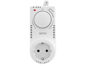 Steckdosenthermostat mit Nachtabsenkung Stecker-Thermostat für Infrarotheizung