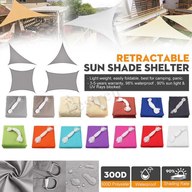 Shade Sail 300D Waterproof Canopy Outdoor Patio Cover UV Block 4 Shape Sun