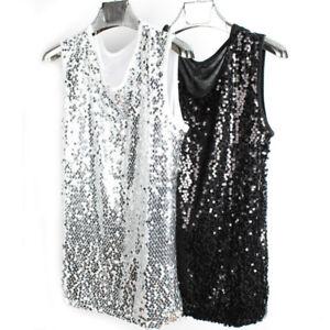 Men-Sequins-Tank-Tops-Camisole-Vest-Bling-Glitter-Shiny-Punk-Sleeveless-T-Shirt