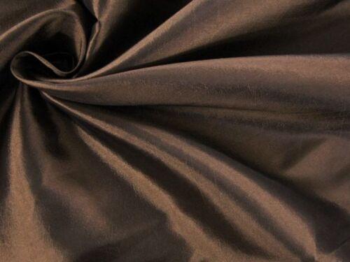 kleidertaft Deluxe METERWARE sustancia brillante bronce marrón EUR 5,97//m
