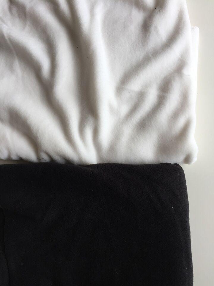 Stof, Fleece stof - stort - hvid og sort